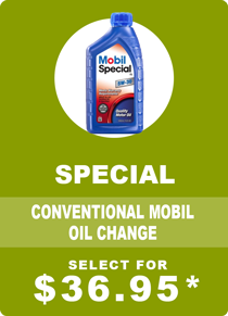 Mobil Special Conventional Oil Change